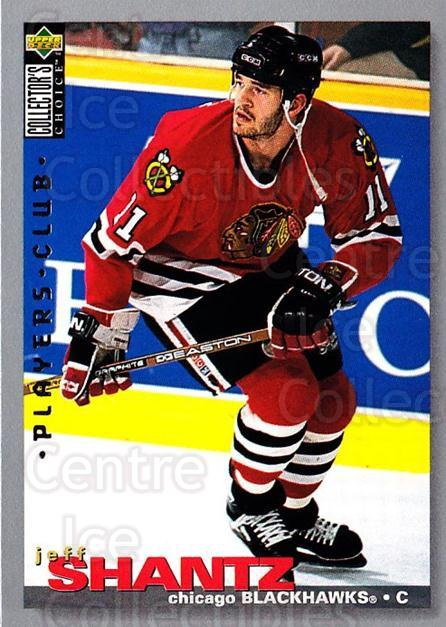 1995-96 Collectors Choice Players Club #124 Jeff Shantz<br/>4 In Stock - $2.00 each - <a href=https://centericecollectibles.foxycart.com/cart?name=1995-96%20Collectors%20Choice%20Players%20Club%20%23124%20Jeff%20Shantz...&quantity_max=4&price=$2.00&code=38506 class=foxycart> Buy it now! </a>