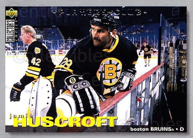 1995-96 Collectors Choice Players Club #126 Jamie Huscroft<br/>2 In Stock - $2.00 each - <a href=https://centericecollectibles.foxycart.com/cart?name=1995-96%20Collectors%20Choice%20Players%20Club%20%23126%20Jamie%20Huscroft...&quantity_max=2&price=$2.00&code=38508 class=foxycart> Buy it now! </a>