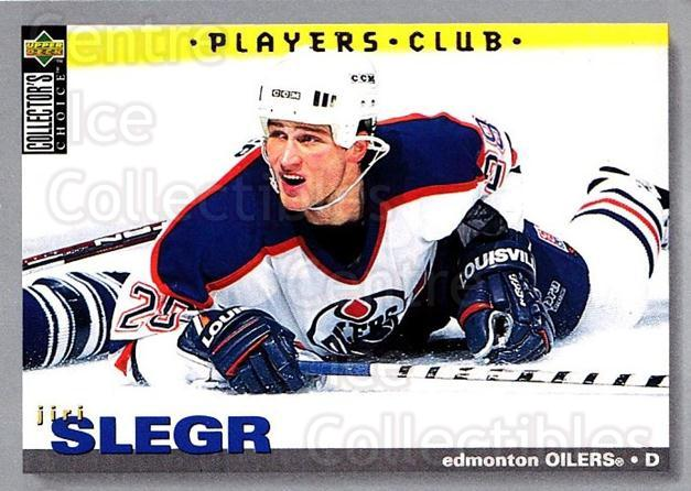 1995-96 Collectors Choice Players Club #144 Jiri Slegr<br/>5 In Stock - $2.00 each - <a href=https://centericecollectibles.foxycart.com/cart?name=1995-96%20Collectors%20Choice%20Players%20Club%20%23144%20Jiri%20Slegr...&quantity_max=5&price=$2.00&code=38526 class=foxycart> Buy it now! </a>