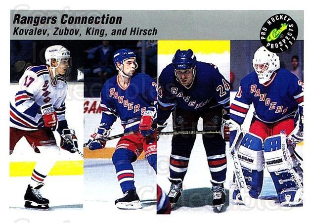 1993 Classic Pro Prospects #74 Alexei Kovalev, Sergei Zubov, Steve King, Corey Hirsch<br/>2 In Stock - $1.00 each - <a href=https://centericecollectibles.foxycart.com/cart?name=1993%20Classic%20Pro%20Prospects%20%2374%20Alexei%20Kovalev,...&quantity_max=2&price=$1.00&code=385281 class=foxycart> Buy it now! </a>