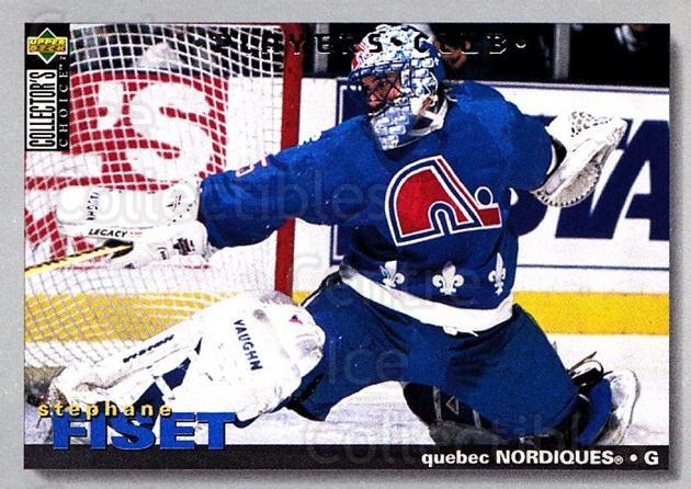 1995-96 Collectors Choice Players Club #150 Stephane Fiset<br/>3 In Stock - $2.00 each - <a href=https://centericecollectibles.foxycart.com/cart?name=1995-96%20Collectors%20Choice%20Players%20Club%20%23150%20Stephane%20Fiset...&quantity_max=3&price=$2.00&code=38532 class=foxycart> Buy it now! </a>