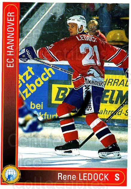 1994-95 German DEL #140 Rene Ledock<br/>5 In Stock - $2.00 each - <a href=https://centericecollectibles.foxycart.com/cart?name=1994-95%20German%20DEL%20%23140%20Rene%20Ledock...&quantity_max=5&price=$2.00&code=385516 class=foxycart> Buy it now! </a>
