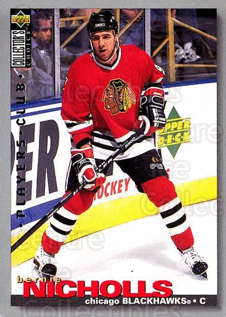 1995-96 Collectors Choice Players Club #169 Bernie Nicholls<br/>5 In Stock - $2.00 each - <a href=https://centericecollectibles.foxycart.com/cart?name=1995-96%20Collectors%20Choice%20Players%20Club%20%23169%20Bernie%20Nicholls...&quantity_max=5&price=$2.00&code=38551 class=foxycart> Buy it now! </a>