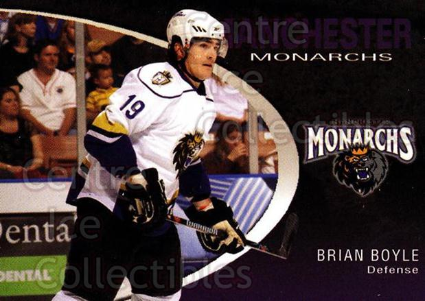 2007-08 Manchester Monarchs #1 Brian Boyle<br/>3 In Stock - $3.00 each - <a href=https://centericecollectibles.foxycart.com/cart?name=2007-08%20Manchester%20Monarchs%20%231%20Brian%20Boyle...&quantity_max=3&price=$3.00&code=385841 class=foxycart> Buy it now! </a>