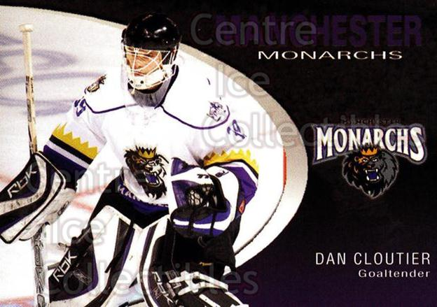 2007-08 Manchester Monarchs #3 Dan Cloutier<br/>4 In Stock - $3.00 each - <a href=https://centericecollectibles.foxycart.com/cart?name=2007-08%20Manchester%20Monarchs%20%233%20Dan%20Cloutier...&quantity_max=4&price=$3.00&code=385843 class=foxycart> Buy it now! </a>