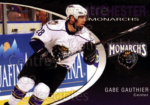 2007-08 Manchester Monarchs #7 Gabe Gauthier<br/>4 In Stock - $3.00 each - <a href=https://centericecollectibles.foxycart.com/cart?name=2007-08%20Manchester%20Monarchs%20%237%20Gabe%20Gauthier...&quantity_max=4&price=$3.00&code=385847 class=foxycart> Buy it now! </a>