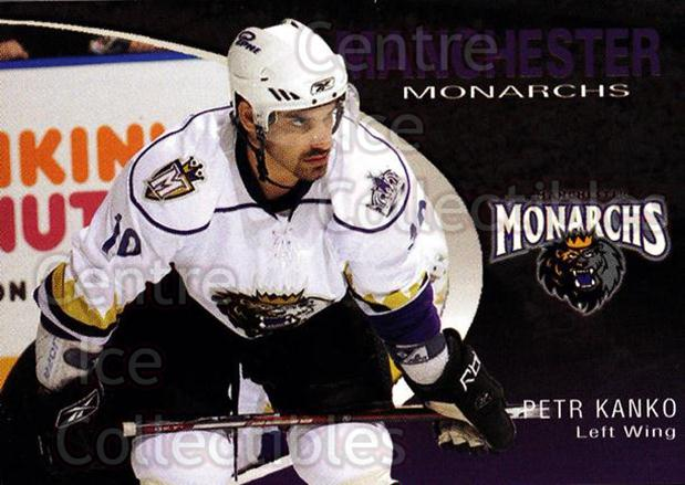 2007-08 Manchester Monarchs #11 Petr Kanko<br/>2 In Stock - $3.00 each - <a href=https://centericecollectibles.foxycart.com/cart?name=2007-08%20Manchester%20Monarchs%20%2311%20Petr%20Kanko...&quantity_max=2&price=$3.00&code=385851 class=foxycart> Buy it now! </a>