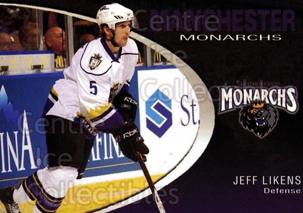 2007-08 Manchester Monarchs #14 Jeff Likens<br/>2 In Stock - $3.00 each - <a href=https://centericecollectibles.foxycart.com/cart?name=2007-08%20Manchester%20Monarchs%20%2314%20Jeff%20Likens...&quantity_max=2&price=$3.00&code=385854 class=foxycart> Buy it now! </a>