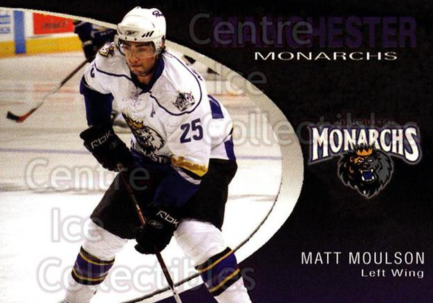 2007-08 Manchester Monarchs #16 Matt Moulson<br/>4 In Stock - $3.00 each - <a href=https://centericecollectibles.foxycart.com/cart?name=2007-08%20Manchester%20Monarchs%20%2316%20Matt%20Moulson...&quantity_max=4&price=$3.00&code=385856 class=foxycart> Buy it now! </a>
