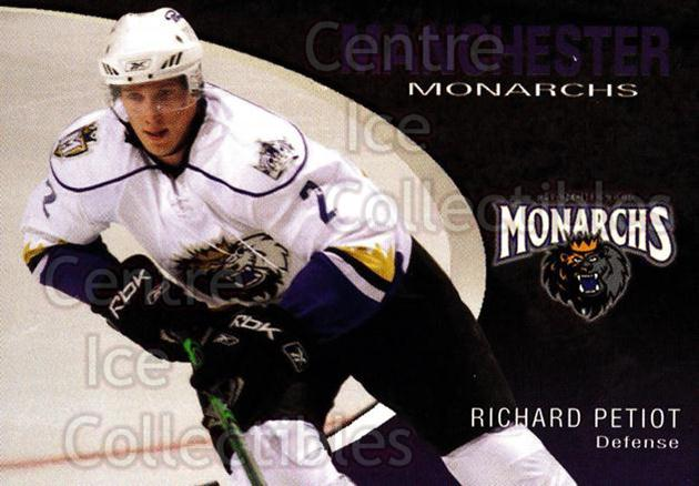 2007-08 Manchester Monarchs #17 Richard Petiot<br/>4 In Stock - $3.00 each - <a href=https://centericecollectibles.foxycart.com/cart?name=2007-08%20Manchester%20Monarchs%20%2317%20Richard%20Petiot...&quantity_max=4&price=$3.00&code=385857 class=foxycart> Buy it now! </a>