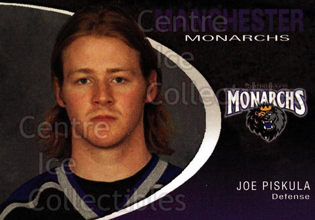 2007-08 Manchester Monarchs #18 Joe Piskula<br/>3 In Stock - $3.00 each - <a href=https://centericecollectibles.foxycart.com/cart?name=2007-08%20Manchester%20Monarchs%20%2318%20Joe%20Piskula...&quantity_max=3&price=$3.00&code=385858 class=foxycart> Buy it now! </a>