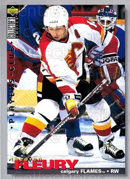 1995-96 Collectors Choice Players Club #201 Theo Fleury<br/>5 In Stock - $2.00 each - <a href=https://centericecollectibles.foxycart.com/cart?name=1995-96%20Collectors%20Choice%20Players%20Club%20%23201%20Theo%20Fleury...&quantity_max=5&price=$2.00&code=38588 class=foxycart> Buy it now! </a>