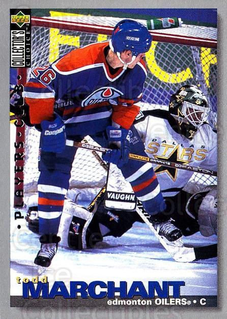 1995-96 Collectors Choice Players Club #210 Todd Marchant<br/>5 In Stock - $2.00 each - <a href=https://centericecollectibles.foxycart.com/cart?name=1995-96%20Collectors%20Choice%20Players%20Club%20%23210%20Todd%20Marchant...&quantity_max=5&price=$2.00&code=38597 class=foxycart> Buy it now! </a>