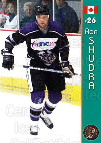 2004-05 UK British Elite Masters of the Ice A #11 Ron Shudra<br/>2 In Stock - $3.00 each - <a href=https://centericecollectibles.foxycart.com/cart?name=2004-05%20UK%20British%20Elite%20Masters%20of%20the%20Ice%20A%20%2311%20Ron%20Shudra...&quantity_max=2&price=$3.00&code=386258 class=foxycart> Buy it now! </a>