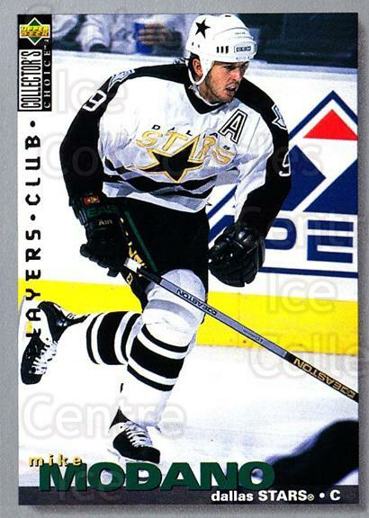 1995-96 Collectors Choice Players Club #238 Mike Modano<br/>4 In Stock - $2.00 each - <a href=https://centericecollectibles.foxycart.com/cart?name=1995-96%20Collectors%20Choice%20Players%20Club%20%23238%20Mike%20Modano...&quantity_max=4&price=$2.00&code=38625 class=foxycart> Buy it now! </a>