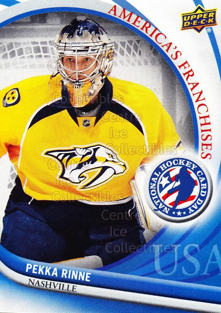 2012 Upper Deck National Hockey Card Day USA #4 Pekka Rinne<br/>11 In Stock - $2.00 each - <a href=https://centericecollectibles.foxycart.com/cart?name=2012%20Upper%20Deck%20National%20Hockey%20Card%20Day%20USA%20%234%20Pekka%20Rinne...&quantity_max=11&price=$2.00&code=386315 class=foxycart> Buy it now! </a>