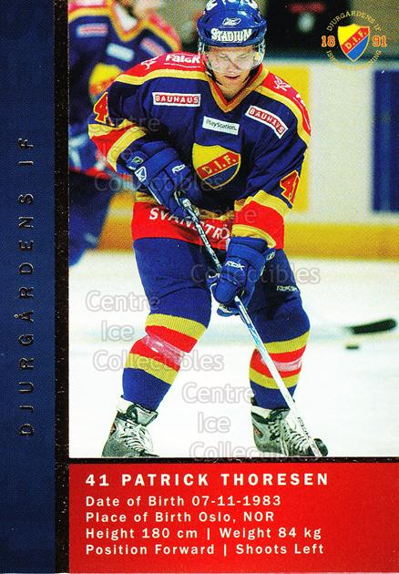 2005-06 Swedish Elitset Teammates #2 Nichlas Falk, Patrick Thoresen<br/>1 In Stock - $3.00 each - <a href=https://centericecollectibles.foxycart.com/cart?name=2005-06%20Swedish%20Elitset%20Teammates%20%232%20Nichlas%20Falk,%20P...&price=$3.00&code=386330 class=foxycart> Buy it now! </a>