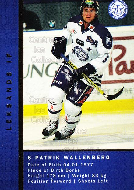 2005-06 Swedish Elitset Teammates #6 Niklas Person, Patrik Wallenberg<br/>1 In Stock - $3.00 each - <a href=https://centericecollectibles.foxycart.com/cart?name=2005-06%20Swedish%20Elitset%20Teammates%20%236%20Niklas%20Person,%20...&quantity_max=1&price=$3.00&code=386334 class=foxycart> Buy it now! </a>