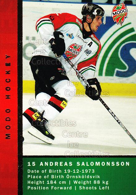 2005-06 Swedish Elitset Teammates #9 Andreas Salomonsson, Per Svartvadet<br/>2 In Stock - $3.00 each - <a href=https://centericecollectibles.foxycart.com/cart?name=2005-06%20Swedish%20Elitset%20Teammates%20%239%20Andreas%20Salomon...&quantity_max=2&price=$3.00&code=386337 class=foxycart> Buy it now! </a>