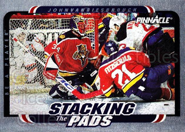 1996-97 Be A Player Stacking the Pads #4 John Vanbiesbrouck<br/>3 In Stock - $3.00 each - <a href=https://centericecollectibles.foxycart.com/cart?name=1996-97%20Be%20A%20Player%20Stacking%20the%20Pads%20%234%20John%20Vanbiesbro...&quantity_max=3&price=$3.00&code=386438 class=foxycart> Buy it now! </a>