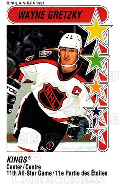 1991-92 Panini Stickers #327 Wayne Gretzky<br/>28 In Stock - $3.00 each - <a href=https://centericecollectibles.foxycart.com/cart?name=1991-92%20Panini%20Stickers%20%23327%20Wayne%20Gretzky...&quantity_max=28&price=$3.00&code=386476 class=foxycart> Buy it now! </a>