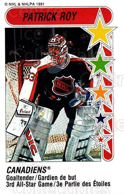 1991-92 Panini Stickers #333 Patrick Roy<br/>3 In Stock - $3.00 each - <a href=https://centericecollectibles.foxycart.com/cart?name=1991-92%20Panini%20Stickers%20%23333%20Patrick%20Roy...&price=$3.00&code=386477 class=foxycart> Buy it now! </a>