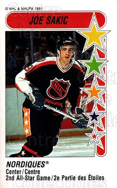 1991-92 Panini Stickers #334 Joe Sakic<br/>3 In Stock - $1.00 each - <a href=https://centericecollectibles.foxycart.com/cart?name=1991-92%20Panini%20Stickers%20%23334%20Joe%20Sakic...&price=$1.00&code=386478 class=foxycart> Buy it now! </a>