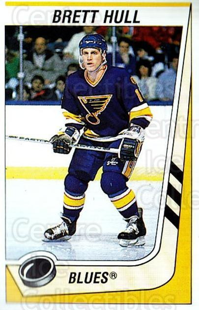 1989-90 Panini Stickers #117 Brett Hull<br/>1 In Stock - $2.00 each - <a href=https://centericecollectibles.foxycart.com/cart?name=1989-90%20Panini%20Stickers%20%23117%20Brett%20Hull...&price=$2.00&code=386488 class=foxycart> Buy it now! </a>