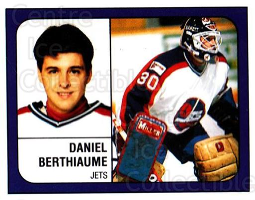 1988-89 Panini Stickers #148 Daniel Berthiaume<br/>2 In Stock - $1.00 each - <a href=https://centericecollectibles.foxycart.com/cart?name=1988-89%20Panini%20Stickers%20%23148%20Daniel%20Berthiau...&quantity_max=2&price=$1.00&code=386517 class=foxycart> Buy it now! </a>