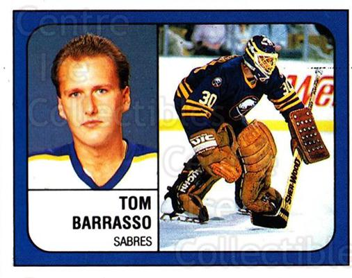 1988-89 Panini Stickers #219 Tom Barrasso<br/>2 In Stock - $1.00 each - <a href=https://centericecollectibles.foxycart.com/cart?name=1988-89%20Panini%20Stickers%20%23219%20Tom%20Barrasso...&price=$1.00&code=386525 class=foxycart> Buy it now! </a>