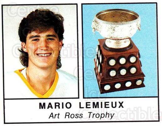 1988-89 Panini Stickers #401 Art Ross Trophy, Mario Lemeiux<br/>1 In Stock - $5.00 each - <a href=https://centericecollectibles.foxycart.com/cart?name=1988-89%20Panini%20Stickers%20%23401%20Art%20Ross%20Trophy...&price=$5.00&code=386535 class=foxycart> Buy it now! </a>