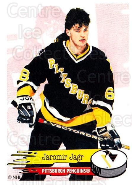 1995-96 Panini Stickers #63 Jaromir Jagr<br/>1 In Stock - $5.00 each - <a href=https://centericecollectibles.foxycart.com/cart?name=1995-96%20Panini%20Stickers%20%2363%20Jaromir%20Jagr...&quantity_max=1&price=$5.00&code=386539 class=foxycart> Buy it now! </a>