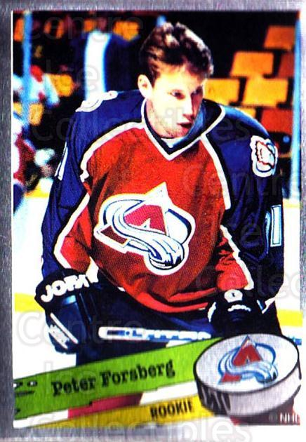 1995-96 Panini Stickers #299 Peter Forsberg<br/>1 In Stock - $3.00 each - <a href=https://centericecollectibles.foxycart.com/cart?name=1995-96%20Panini%20Stickers%20%23299%20Peter%20Forsberg...&quantity_max=1&price=$3.00&code=386552 class=foxycart> Buy it now! </a>
