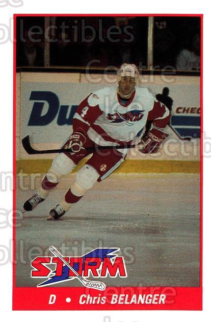 1993-94 Toledo Storm #10 Chris Belanger<br/>1 In Stock - $3.00 each - <a href=https://centericecollectibles.foxycart.com/cart?name=1993-94%20Toledo%20Storm%20%2310%20Chris%20Belanger...&quantity_max=1&price=$3.00&code=3882 class=foxycart> Buy it now! </a>