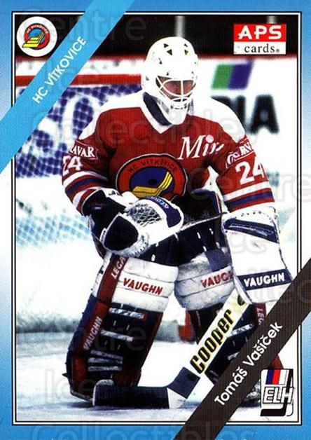 1994-95 Czech APS Extraliga #116 Tomas Vasicek<br/>2 In Stock - $2.00 each - <a href=https://centericecollectibles.foxycart.com/cart?name=1994-95%20Czech%20APS%20Extraliga%20%23116%20Tomas%20Vasicek...&quantity_max=2&price=$2.00&code=388404 class=foxycart> Buy it now! </a>