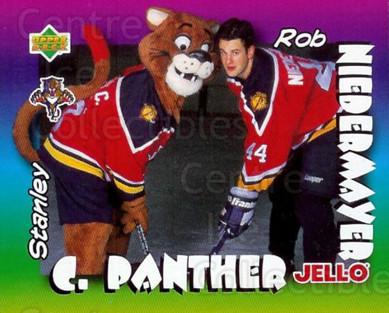 1996-97 Kraft Jell-O Mascots #1 Rob Niedermayer, Mascot<br/>4 In Stock - $2.00 each - <a href=https://centericecollectibles.foxycart.com/cart?name=1996-97%20Kraft%20Jell-O%20Mascots%20%231%20Rob%20Niedermayer...&quantity_max=4&price=$2.00&code=389810 class=foxycart> Buy it now! </a>