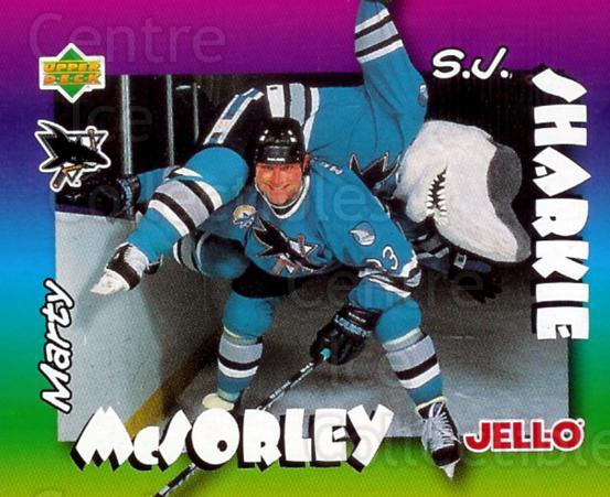 1996-97 Kraft Jell-O Mascots #2 Marty McSorley, Mascot<br/>6 In Stock - $2.00 each - <a href=https://centericecollectibles.foxycart.com/cart?name=1996-97%20Kraft%20Jell-O%20Mascots%20%232%20Marty%20McSorley,...&quantity_max=6&price=$2.00&code=389811 class=foxycart> Buy it now! </a>