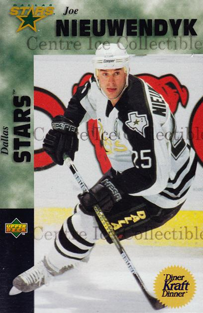 1996-97 Kraft Dinner #13 Joe Nieuwendyk<br/>11 In Stock - $3.00 each - <a href=https://centericecollectibles.foxycart.com/cart?name=1996-97%20Kraft%20Dinner%20%2313%20Joe%20Nieuwendyk...&quantity_max=11&price=$3.00&code=389848 class=foxycart> Buy it now! </a>