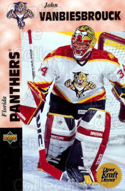 1996-97 Kraft Dinner #24 John Vanbiesbrouck<br/>5 In Stock - $3.00 each - <a href=https://centericecollectibles.foxycart.com/cart?name=1996-97%20Kraft%20Dinner%20%2324%20John%20Vanbiesbro...&quantity_max=5&price=$3.00&code=389851 class=foxycart> Buy it now! </a>