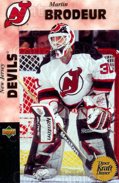 1996-97 Kraft Dinner #14 Martin Brodeur<br/>1 In Stock - $3.00 each - <a href=https://centericecollectibles.foxycart.com/cart?name=1996-97%20Kraft%20Dinner%20%2314%20Martin%20Brodeur...&price=$3.00&code=389855 class=foxycart> Buy it now! </a>