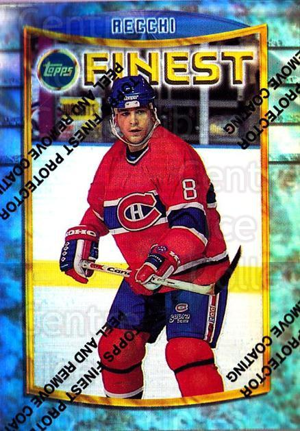 1994-95 Finest Refractors #109 Mark Recchi<br/>1 In Stock - $5.00 each - <a href=https://centericecollectibles.foxycart.com/cart?name=1994-95%20Finest%20Refractors%20%23109%20Mark%20Recchi...&quantity_max=1&price=$5.00&code=389924 class=foxycart> Buy it now! </a>