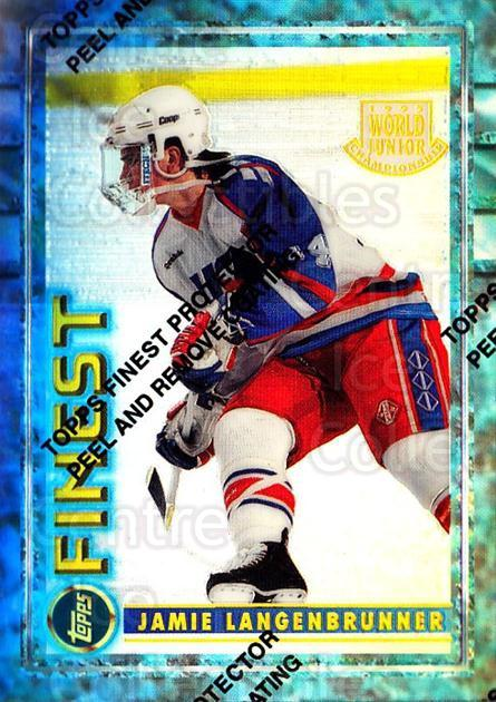 1994-95 Finest Refractors #120 Jamie Langenbrunner<br/>1 In Stock - $5.00 each - <a href=https://centericecollectibles.foxycart.com/cart?name=1994-95%20Finest%20Refractors%20%23120%20Jamie%20Langenbru...&quantity_max=1&price=$5.00&code=389937 class=foxycart> Buy it now! </a>