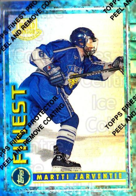 1994-95 Finest Refractors #130 Martti Jarventie<br/>1 In Stock - $5.00 each - <a href=https://centericecollectibles.foxycart.com/cart?name=1994-95%20Finest%20Refractors%20%23130%20Martti%20Jarventi...&quantity_max=1&price=$5.00&code=389945 class=foxycart> Buy it now! </a>