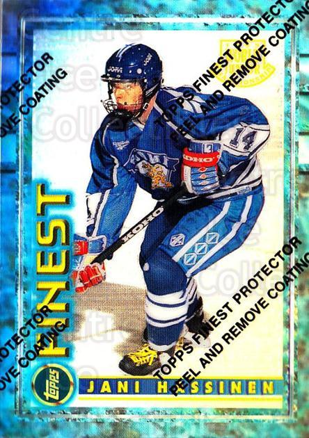1994-95 Finest Refractors #136 Jani Hassinen<br/>6 In Stock - $5.00 each - <a href=https://centericecollectibles.foxycart.com/cart?name=1994-95%20Finest%20Refractors%20%23136%20Jani%20Hassinen...&price=$5.00&code=389951 class=foxycart> Buy it now! </a>