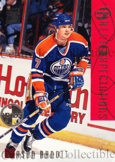 1994-95 Stadium Club Members Only #115 Jason Arnott<br/>4 In Stock - $5.00 each - <a href=https://centericecollectibles.foxycart.com/cart?name=1994-95%20Stadium%20Club%20Members%20Only%20%23115%20Jason%20Arnott...&quantity_max=4&price=$5.00&code=390101 class=foxycart> Buy it now! </a>
