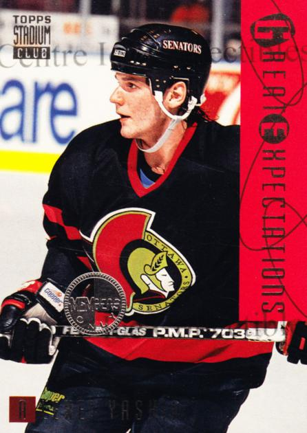 1994-95 Stadium Club Members Only #116 Alexei Yashin<br/>4 In Stock - $5.00 each - <a href=https://centericecollectibles.foxycart.com/cart?name=1994-95%20Stadium%20Club%20Members%20Only%20%23116%20Alexei%20Yashin...&quantity_max=4&price=$5.00&code=390102 class=foxycart> Buy it now! </a>