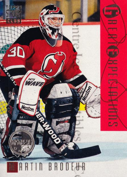 1994-95 Stadium Club Members Only #119 Martin Brodeur<br/>1 In Stock - $10.00 each - <a href=https://centericecollectibles.foxycart.com/cart?name=1994-95%20Stadium%20Club%20Members%20Only%20%23119%20Martin%20Brodeur...&price=$10.00&code=390105 class=foxycart> Buy it now! </a>