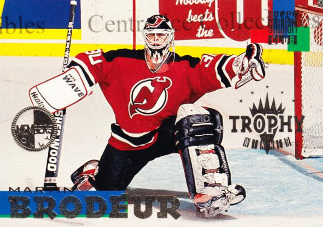 1994-95 Stadium Club Members Only #264 Martin Brodeur<br/>2 In Stock - $10.00 each - <a href=https://centericecollectibles.foxycart.com/cart?name=1994-95%20Stadium%20Club%20Members%20Only%20%23264%20Martin%20Brodeur...&price=$10.00&code=390260 class=foxycart> Buy it now! </a>