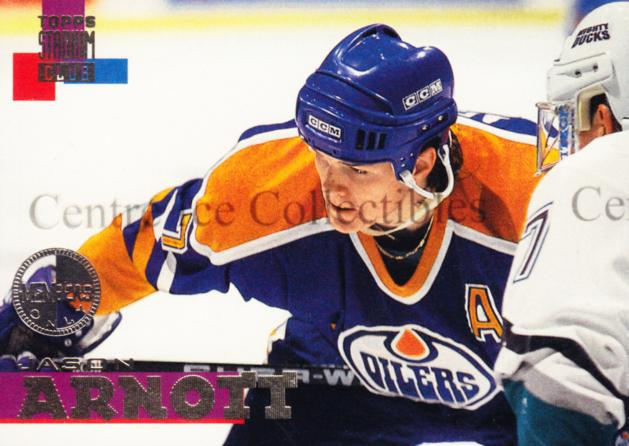 1994-95 Stadium Club Members Only #7 Jason Arnott<br/>4 In Stock - $5.00 each - <a href=https://centericecollectibles.foxycart.com/cart?name=1994-95%20Stadium%20Club%20Members%20Only%20%237%20Jason%20Arnott...&quantity_max=4&price=$5.00&code=390311 class=foxycart> Buy it now! </a>