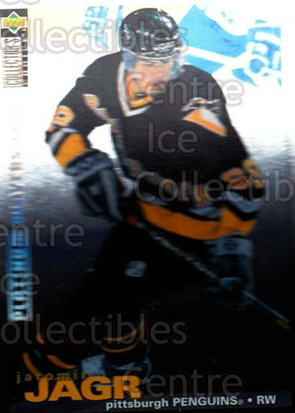 1995-96 Collectors Choice Players Club Platinum #127 Jaromir Jagr<br/>2 In Stock - $5.00 each - <a href=https://centericecollectibles.foxycart.com/cart?name=1995-96%20Collectors%20Choice%20Players%20Club%20Platinum%20%23127%20Jaromir%20Jagr...&quantity_max=2&price=$5.00&code=390365 class=foxycart> Buy it now! </a>